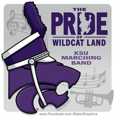 K-State Marching Band Powercat posted on my Robel Graphics Facebook page in honor of John Philip Sousa's birthday, November 6th. Sousa composed The Wildcat March. And, as I mentioned on my Facebook page, Game Day just wouldn't be complete without the iconic sounds of the marching band. The band is HOT...not a little, but a LOT!