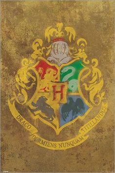Poster Harry Potter Emblême Poudlard ( Hogwarts)  Poster Harry Potter - Hogwarts Crest - affiche à prix abordable, poster XXL format 61 x 91.5 cm