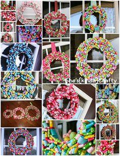 ribbon wreaths!
