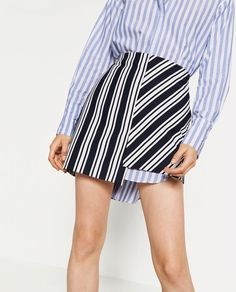 Pin for Later: 17 Zara Pieces So Special, You Won't Go to Sleep Till They're Yours  Zara Striped Mini Skirt ($36)