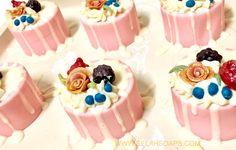 Black raspberry vanilla mini soap cakes!