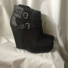 I just added this to my closet on Poshmark: Mossimo black faux suede faux leather bootie 11. Price: $10 Size: 11