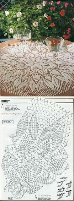 Crochet is one of the most versatile crafts to decorate the home. You can use it to make rugs, tablecloths or simply a crochet centerpiece to match the Crochet Patterns Filet, Crochet Doily Diagram, Crochet Lace Edging, Filet Crochet, Crochet Flowers, Crochet Basket Tutorial, Crochet Flower Tutorial, Crochet Dollies, Crochet Gifts