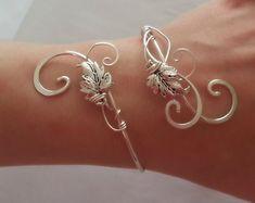 Libélula pulsera para mujer plata regalo brazalete boda élfica