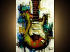 Peinture originale  Art abstrait moderne par SLAZO  30 par SlazoArt