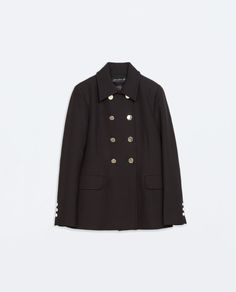 Image 6 of DOUBLE-BREASTED SHORT COAT from Zara
