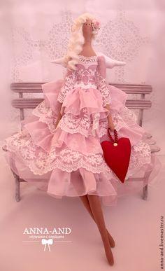 ТИльда 70 см! Нежный ангел, несущий любовь! - бледно-розовый, ангел, тильда, подарок