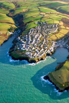 Port Isaac from above by Andrew Turner on Getty Images