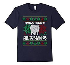 Amazon.com: MOLAR BEAR Tee ENAMEL CRUELTY Ugly Christmas Sweater T-shirt: Clothing