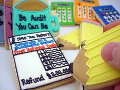 Accountant Cookies - to butter them up at Tax Time!