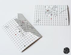 Plantilla de sobre con motivos geométricos // Enveloppe Triangle Géométrique (Free Printable) - Sanglota.com