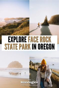 Face Rock State Park in Bandon Oregon is a hidden gem, filled with beautiful sea stacks, ocean strolls, and incredible sunsets. We're sharing exactly what you can see here, the best times to visit, and others things to do on the Oregon coast nearby! Save this for your next Oregon Coast road trip! #PNW #oregon #oregoncoast #bandonoregon #travel #travelblog #pacificnorthwest Bandon Oregon, Oregon Coast, Pacific Ocean, Pacific Northwest, British Columbia, North West, Sunsets, State Parks, Kayaking