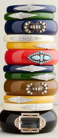Pretty Embellished Bangles