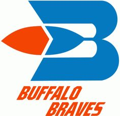 Buffalo Braves Primary Logo (1972) - A feather hanging off a blue B over script