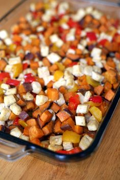 The High-Protein Recipe You Can Eat Any Meal of the Day: Roasted Tofu, Sweet Potato, Pepper Meal High Protein Recipes, Protein Foods, Vegetarian Recipes, Cooking Recipes, Healthy Recipes, Firm Tofu Recipes, Vegetarian Lifestyle, Vegetarian Entrees, Veggie Meals