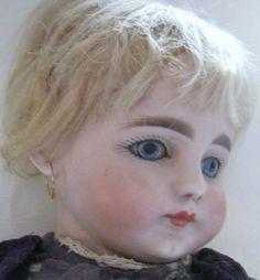 "RARE Simon & Halbig 719 Character doll, beautiful face, 17"" tall, old clothes"