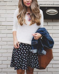sweater with flowy skirt