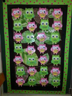 1000 images about porte de classe en hiboux on pinterest for Decoration porte classe halloween