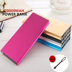 Visiocology : Original FOOBI 20000mAh Power Bank Ultra Slim Dual External Battery Portable Charger for iPhone/Samsung & More 5 Colors