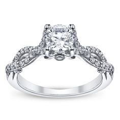 Verragio 18K White Gold Diamond Engagement Ring