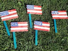 Make a flag from craft sticks...