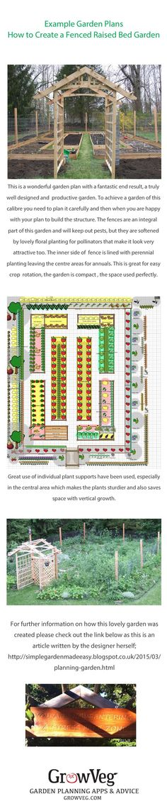 Another wonderful garden planned with the Garden Planner and generously shared by one of our customers. Here is the link to this particular plan so that you can click on it and see exactly what was planted and where www.growveg.com/…