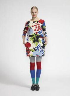 "KAURI dress - Marimekko clothes fall 2013  this should fall under ""hotmess.com"""