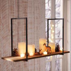 """Kerzentablett zum Hängen """"Holz"""", toller Blickfang und lässt sich schön dekorieren"""
