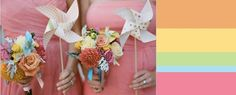 Sweet Summer Sorbet Wedding Inspiration ~~ Team Lover.ly here! We're excited to partner with the COLOURlovers wedding channel to bring you some of our favorite color trends and inspiration each month.    It's positively drab outside lately, and we're looking forward to summer with sugary wedding colo…