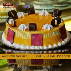 Asian Rajbhog Emperor of all fruit the great golden Mango rush smoothened in fresh vanilla sponge & cream. For more variety of New year cakes available in #Cakepark #Newyearcakes #Birthdaycakes #Photocakes For more: www.cakepark.net Call us: +91-44-4553 5532 New Year's Cake, Vanilla Sponge, All Fruits, Fresh Cream, Cream Cake, Mango, Birthday Cake, Cake Shop, Cakes
