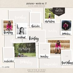 Pictures and Words No. 17 | 3x4 and 4x6 Layered Photo Templates by paislee press