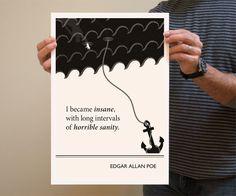 Original Illustration, Edgar Allan Poe quote