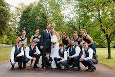 Bridal party pose: Marshfield, WI