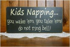 I need one of these to hang on my door, but for knocking or coming in, 'cause my bell doesn't work. LOL