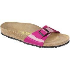 Birkenstock Sandals ''Madrid'' Birko-Flor in lack pink size 35 EU with a regular insole Birkenstock, http://www.amazon.co.uk/dp/B009GD74GA/ref=cm_sw_r_pi_dp_zwLasb10EM5SM  bright pink. size 5. wide fit.