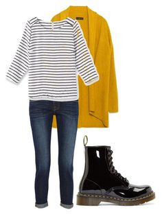 moutarde by baggheera on Polyvore featuring mode, Balsamik, Zara, Frame Denim and Dr. Martens