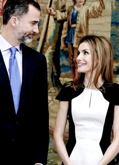 anythingandeverythingroyals:  King Felipe and Queen Letizia attended the National Culture Awards, El Pardo Palace, Madrid, February 16, 2015