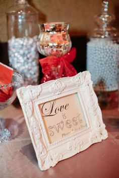 Love is Sweet! Personalized your Candy Bar for your event! https://www.facebook.com/candybarbuffetbyallieallure