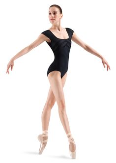 Mirella Guipure Trim Overlap Front Bust Cap Sleeve Leotard   Bloch Danse  Classique 9e74ba1ccd1