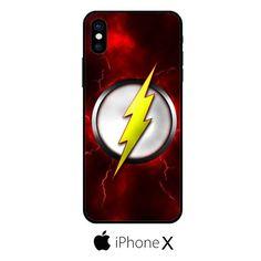 Flash Logo Emblem Scarlet Speedster IPHONE X