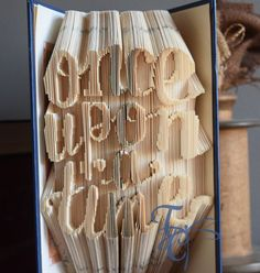 Folded Book Art  Once Upon a Time  Book by TodaysCreations1
