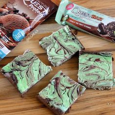 Create a warm batch of #EnjoyMINT right at home with Mint Chocolate Chunk Cheesecake Brownies!  The latest Fan Recipe of the Week by @MisArea infuses cheesecake & brownies with Quest Protein, making it one of the mintiest, most irresistible dishes ever!