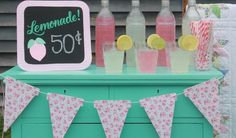 Making Old New Again: Turn an old dresser into a classic LemonAid Stand with this simple DIY tutorial that includes free printables.