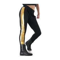 Sequin Inset Jogger Pants ($33) ❤ liked on Polyvore featuring activewear, activewear pants and dance