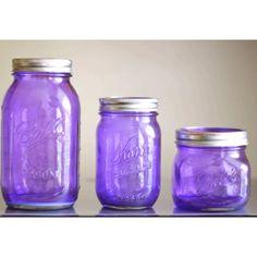 New color Purple Rain colored tinted mason jars by CamlieInc, Tinted Mason Jars, Purple Mason Jars, Colored Mason Jars, Colored Glass, Purple Love, All Things Purple, Shades Of Purple, Purple Glass, Purple Stuff