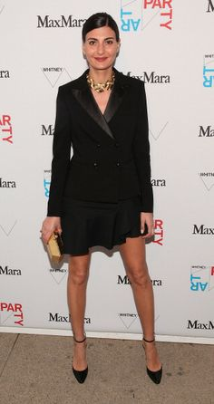 Giovanna Battaglia attends the 2014 Whitney Art Party at Highline