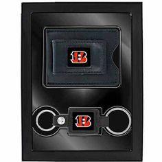 Aminco 2-Piece Leather Valet Gift Set, Bengles, Orange