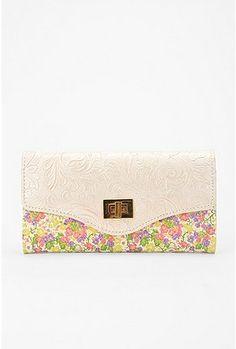Floral CheckBook Wallet