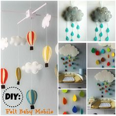 DIY: Felt Cloud and Rain Drops Mobile | Totally Love It