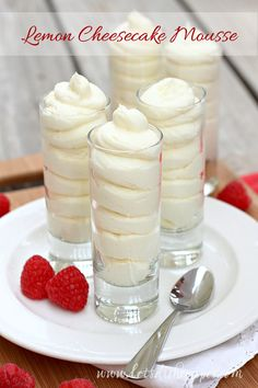 Lemon Cheesecake Mousse with Hamilton Beach Mixers (Giveaway)